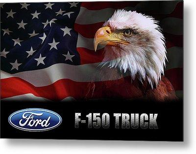 Ford F-150 Truck Patriot Metal Print by Daniel Hagerman