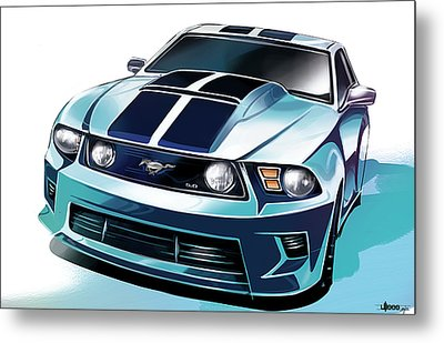 Ford Mustang 5.0 Metal Print by Uli Gonzalez