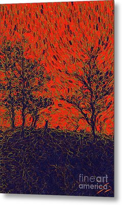 Forest Fire By Sarah Kirk Metal Print by Sarah Kirk