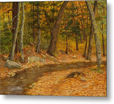 Forest Life Metal Print by Roena King