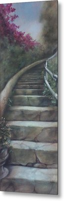 Forest Stairway Up  Metal Print