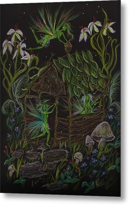 Metal Print featuring the drawing Forgetmenots by Dawn Fairies
