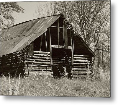 Forgotten Hay Barn Metal Print