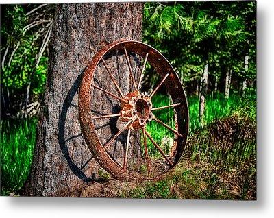 Forgotten Wheel Metal Print