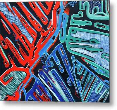 Forked Space - Out Of This World Abstract Metal Print by Rayanda Arts