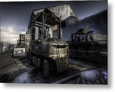 Forklift Metal Print by Yhun Suarez