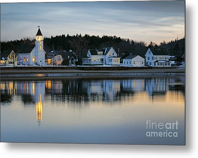 Fort Baldwin Winter Evening Metal Print by Olivier Le Queinec