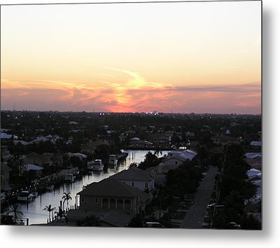 Fort Lauderdale Sunset Metal Print