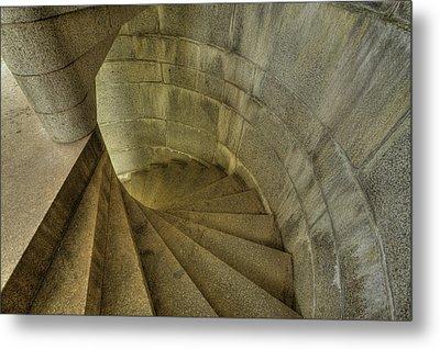 Fort Popham Stairwell Metal Print