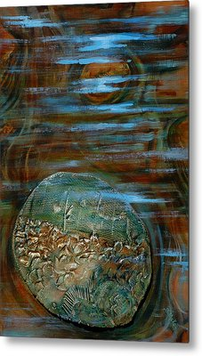 Fossils In A Stream Metal Print by Suzanne McKee