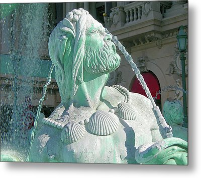 Fountain Blue Metal Print by Randy Rosenberger