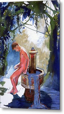 Fountain Metal Print by Rene Capone