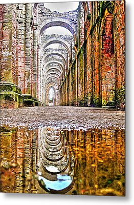 Metal Print featuring the photograph Fountains Abbey by Gouzel -
