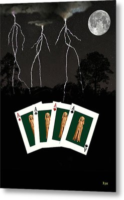 Four Aces Metal Print by Eric Kempson