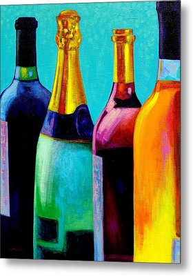 Four Bottles Metal Print by John  Nolan
