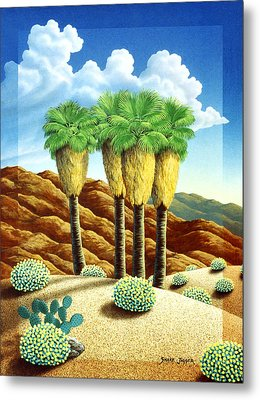 Four Bunch Palms Metal Print by Snake Jagger