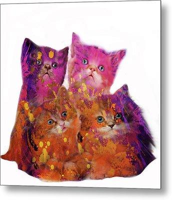 Four Cute Kittens  Metal Print