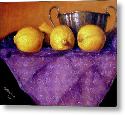 Four Lemons Metal Print by Donelli  DiMaria