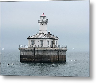 Fourteen Foot Shoal Light  Metal Print by Keith Stokes