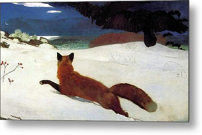 Fox Hunt Metal Print