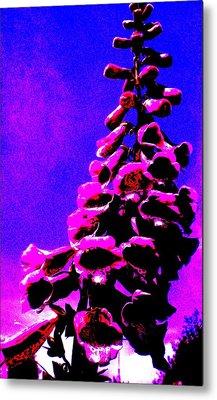 Metal Print featuring the painting Foxglove by Renate Nadi Wesley
