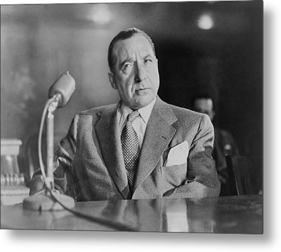 Frank Costello 1891-1973, Testifying Metal Print by Everett