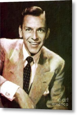 Frank Sinatra, Hollywood Legend By Mary Bassett Metal Print
