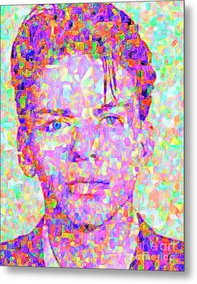 Frank Sinatra In Abstract Cubism 20170404 Vertical Metal Print by Wingsdomain Art and Photography