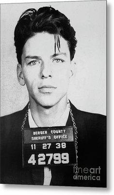 Frank Sinatra Mugshot Metal Print by Jon Neidert