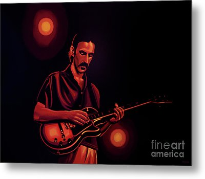 Frank Zappa 2 Metal Print by Paul Meijering