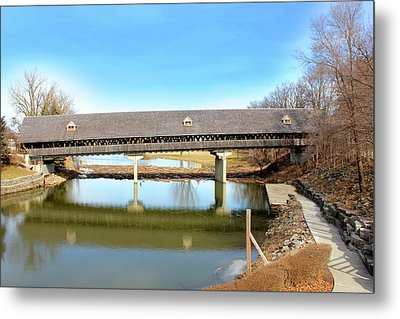 Frankenmuth Covered Bridge Metal Print by Design Turnpike