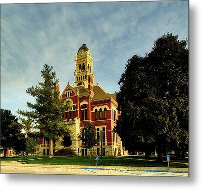 Franklin County Courthouse - Hampton Iowa Metal Print