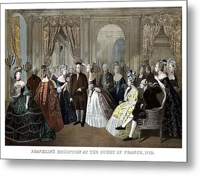 Franklin's Reception At The Court Of France Metal Print by War Is Hell Store