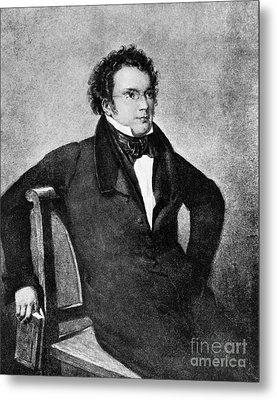 Franz Peter Schubert, Austrian Composer Metal Print by Omikron