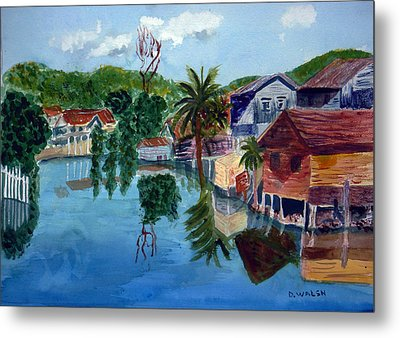 French Harbor Isla De Roatan Metal Print by Donna Walsh
