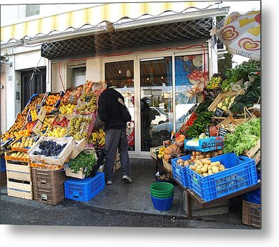 French Market Metal Print by Aline Kala