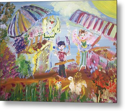 Metal Print featuring the painting French Market Fairies by Judith Desrosiers