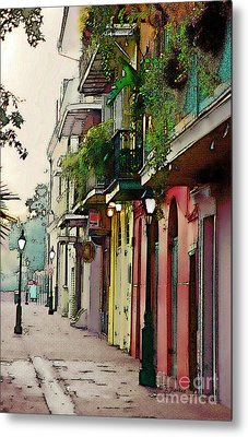 French Quarter New Orleans Metal Print by Linda  Parker