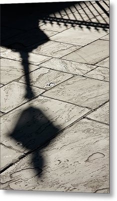French Quarter Shadow Metal Print
