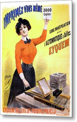 French Vintage Advertising Poster Restored Metal Print by Carsten Reisinger