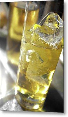 Fresh Drink With Lemon Metal Print