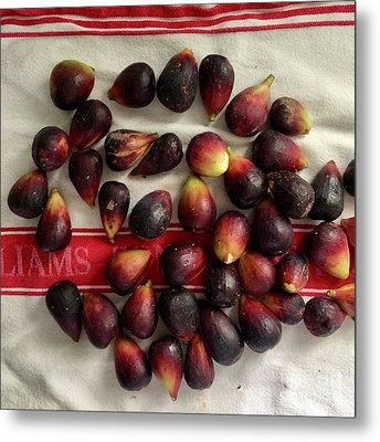 Metal Print featuring the photograph Fresh Figs by Kim Nelson