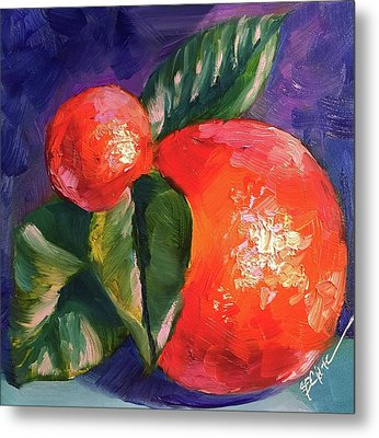 Fresh Oranges Metal Print by Donna Pierce-Clark