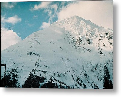 Fresh Snow Peak Metal Print by Judyann Matthews