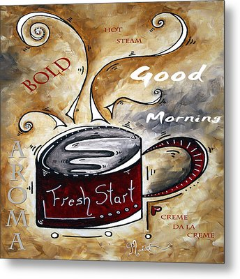 Fresh Start Original Painting Madart Metal Print by Megan Duncanson