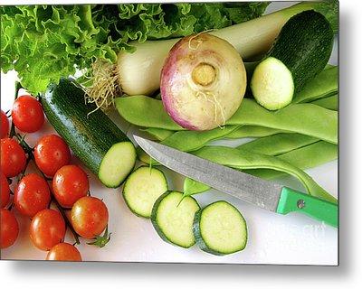 Fresh Vegetables Metal Print by Carlos Caetano