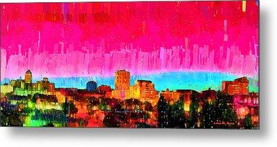 Fresno Skyline 104 - Da Metal Print by Leonardo Digenio