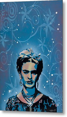 Frida Metal Print by Tai Taeoalii