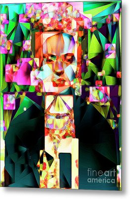 Frida Kahlo In Abstract Cubism 0170326 V3 Metal Print