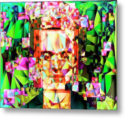 Frida Kahlo In Abstract Cubism 20170326 V3 Horizontal Metal Print
